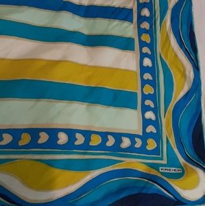 Vintage silk scarf by Kieier for Holt Renfrew